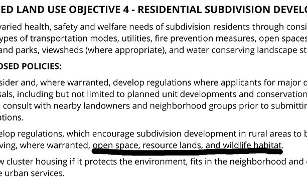 private property vs open space