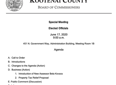 Kootenai County Elected Officials Meeting