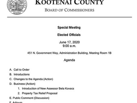 Kootenai County Elected Officials Meeting
