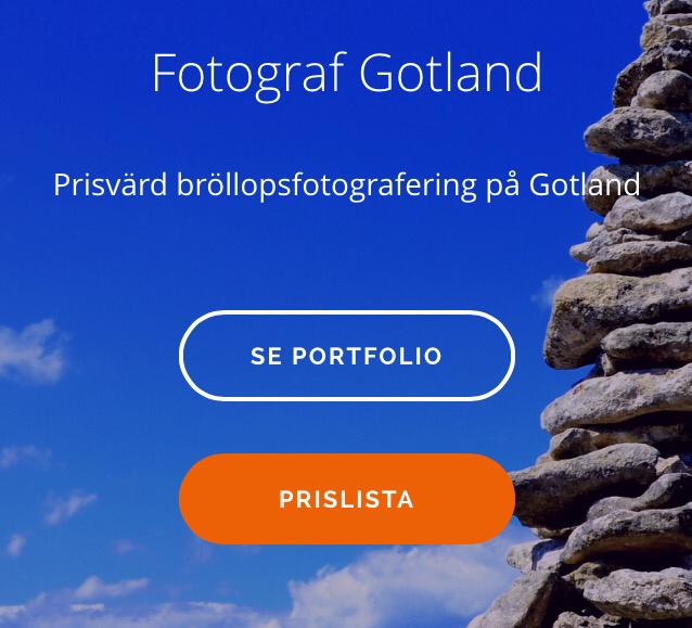 Ny prislista – bröllopsfoto Gotland