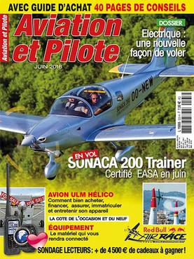 Aviation et Pilote Juin 2018, couverture et article 8 pages