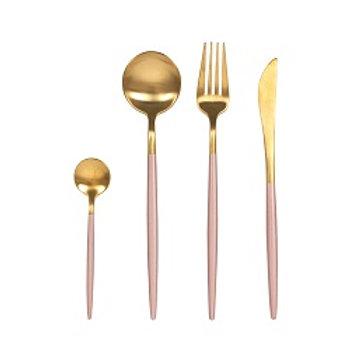 Flatware Gold/Pink