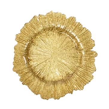 Charger Glass Gold
