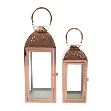 Lanterns Rose Gold 2pcs