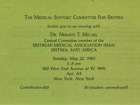 Eritrea's International Support Committees: Medical Support Group for Eritrea & Eritrean Med