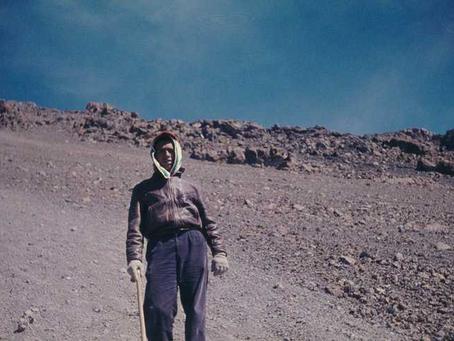 Naigzy Gebremedhin and the Eritrean Flag on Mount Kenya