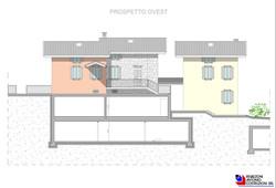 Prospetto ovest Lotto E - scala 1a100