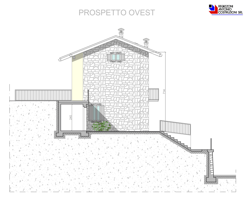 Prospetto ovest Lotto B - scala 1a100