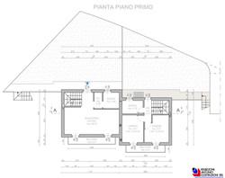 Pianta piano primo Lotto A - scala 1a100