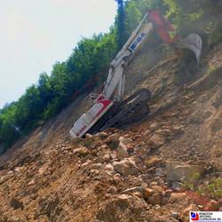 Zogno - Disgaggio per messa in sicurezza scarpate nuova strada provinciale