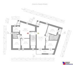 Pianta piano primo - scala 1a100