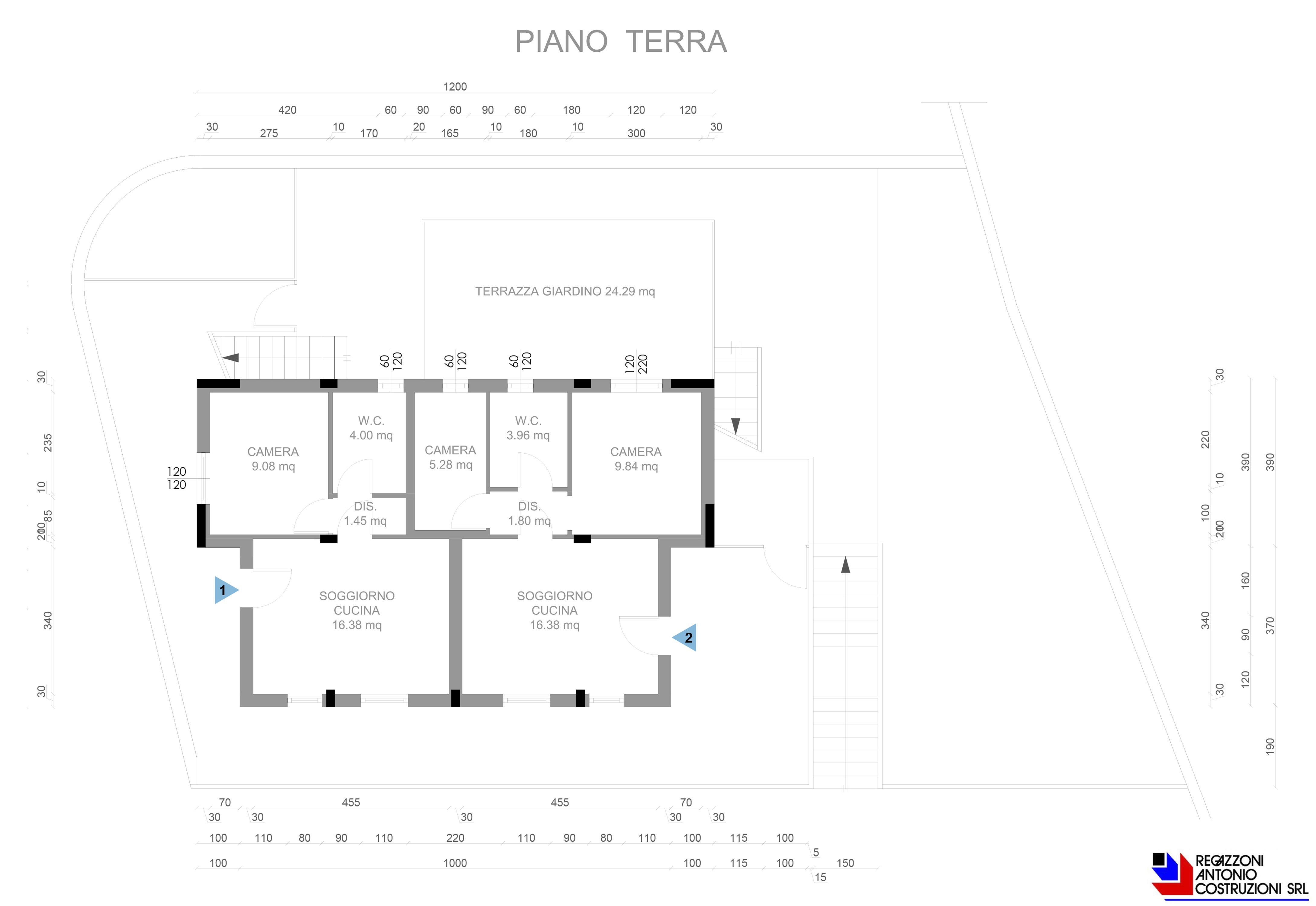 Piano piano terra Monticello 3 - scala 1a100