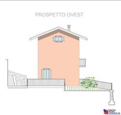 Prospetto ovest villette - scala 1a100
