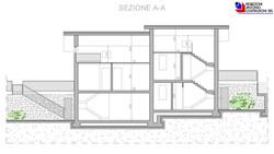 Sezione AA lotto A - scala 1a100