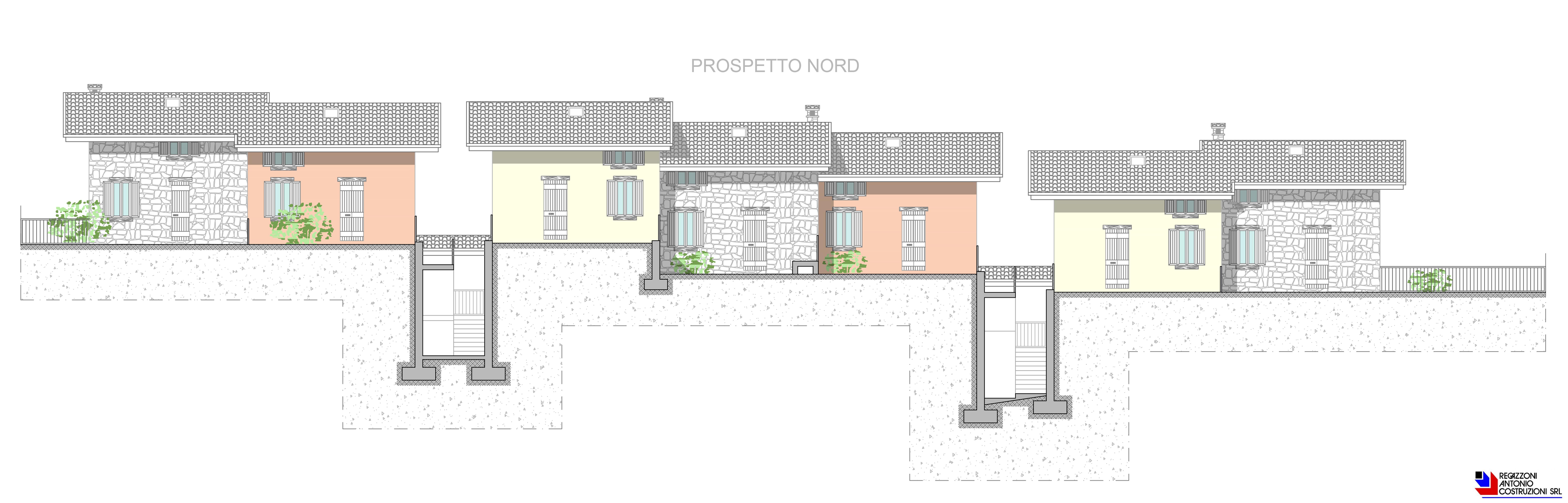 Prospetto nord Lotto B - scala 1a100