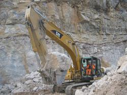Lavorazioni di cava per approvigionamento di inerti