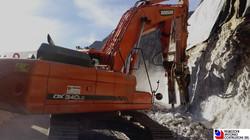 Branzi - Demolizione roccia per allargamento strada provinciale