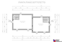 Pianta piano sottotetto Lotto A - scala 1a100