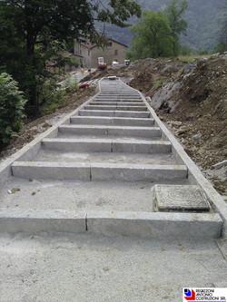 San Pellegrino Terme (Loc Aplecchio-Paradiso) - Realizzazione scalinata