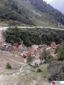 Foppolo - Vista dall'alto mezzi per realizzazione piste da sci