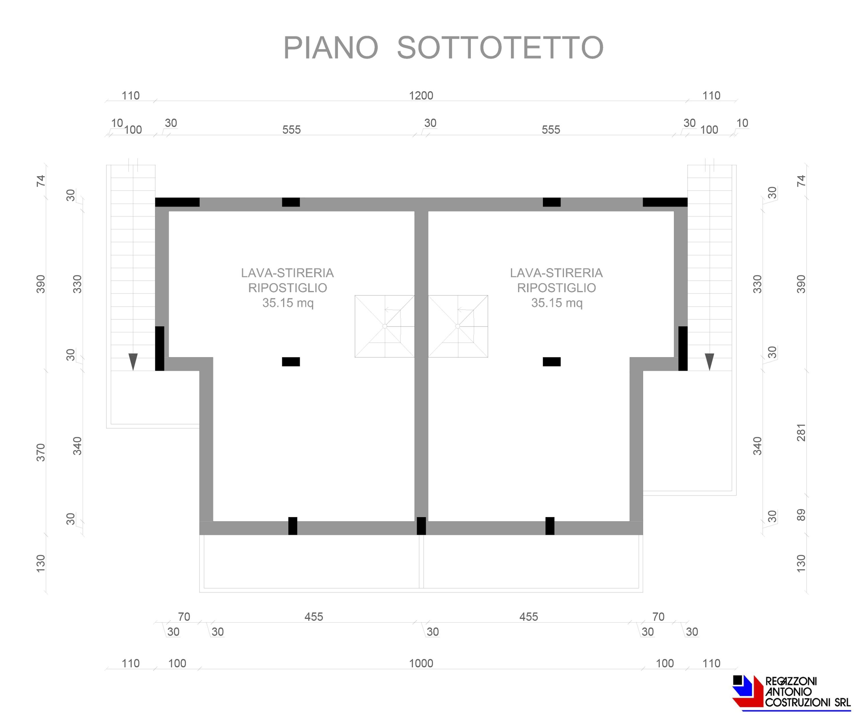 Piano piano sottotetto Monticello 3 - scala 1a100