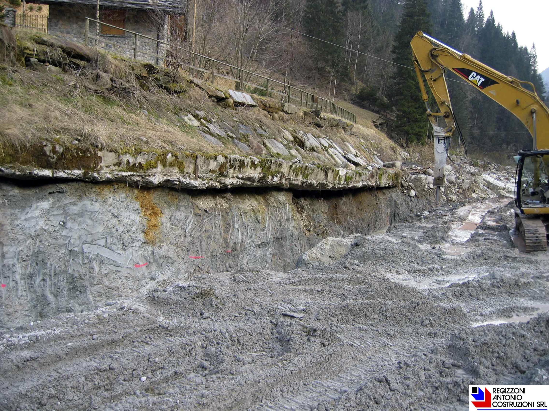Valleve - Sottomurazioni per intervento di regimazione idraulica