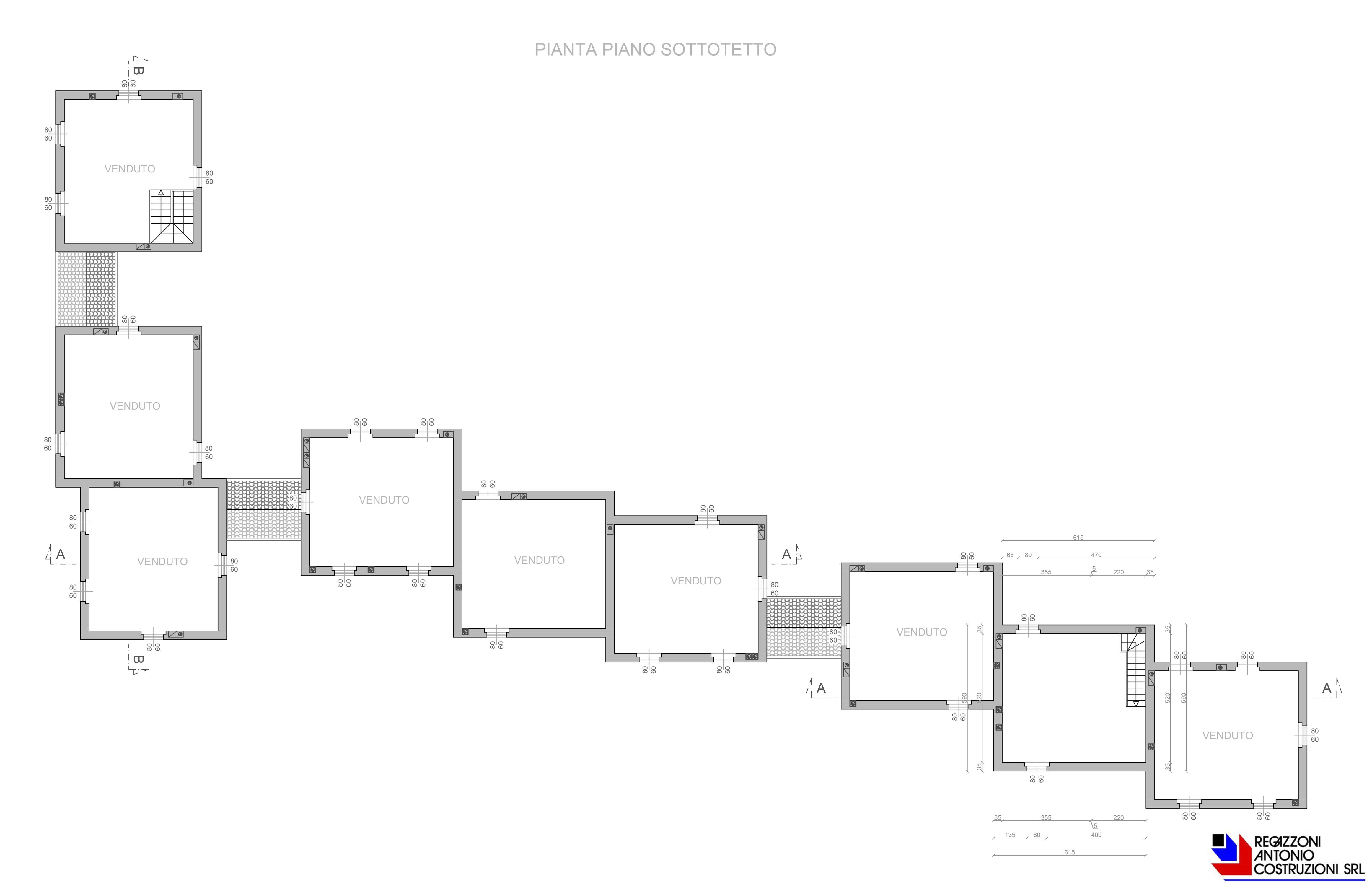 Pianta piano sottotetto - scala 1a100