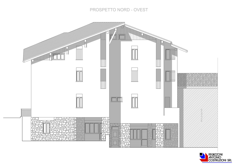 Prospetto nord-ovest Lotto E - scala 1a100