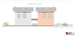 Prospetto nord villette - scala 1a100
