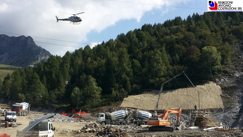 Piani di Bobbio - Getto plinti seggiovia Orscellera
