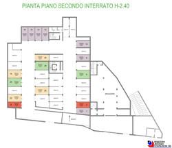 Pianta generale piano secondo interrato - scala1a200