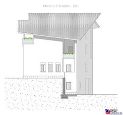 Prospetto nord-est Lotto E - scala 1a100