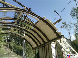 San Pellegrino Terme - Centinatura ponte funicolare