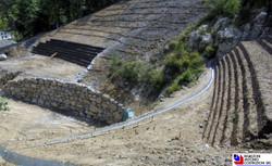Santa Brigida - Vista dall'alto intervento di sitemazione ambientale