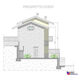Prospetto ovest Lotto A - scala 1a100