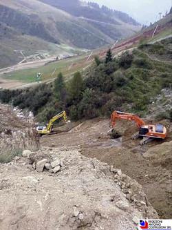 Foppolo - Vista dall'alto tracciato nuove piste da sci