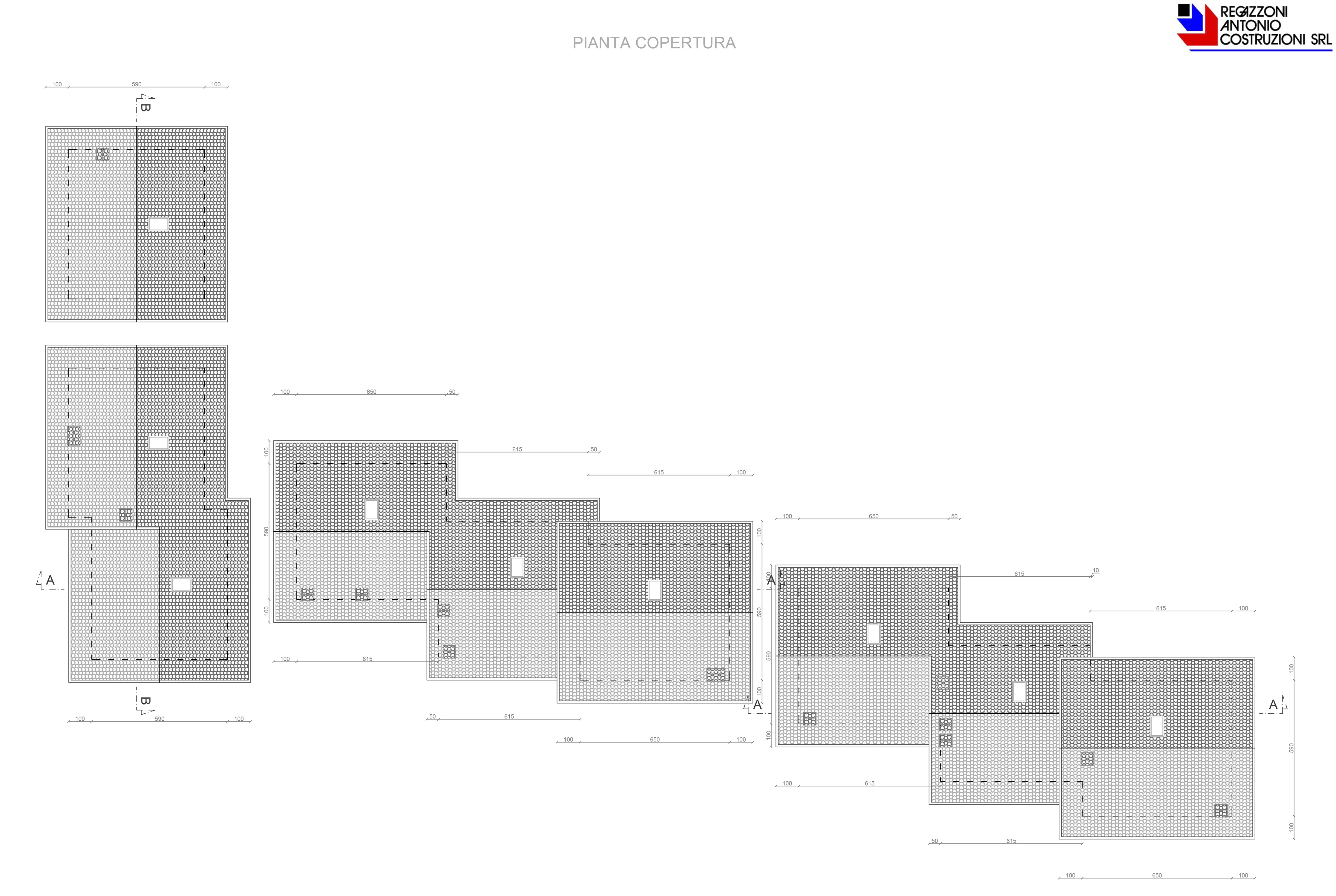 Pianta coperture - scala 1a100