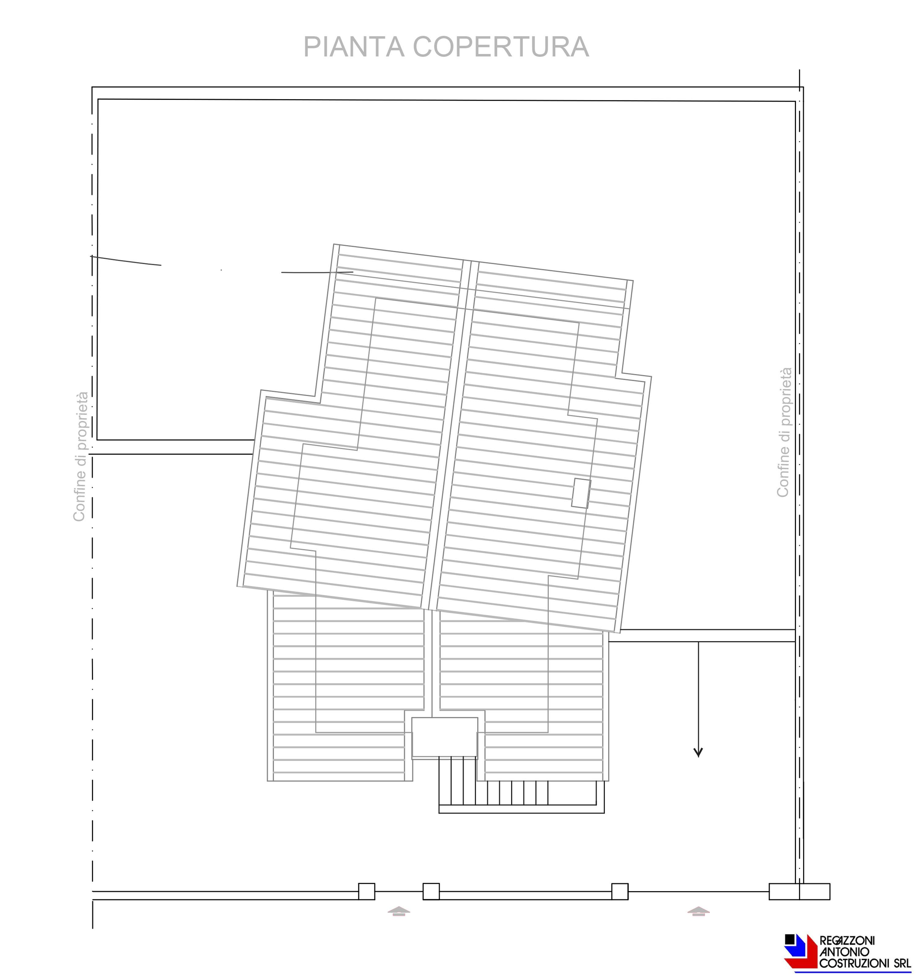 Pianta copertura Villetta Olmo - scala 1a100 2