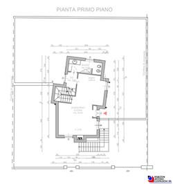 Pianta piano primo villetta Olmo - scala 1a100 1