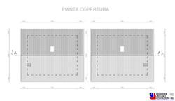 Pianta copertura villette - scala 1a100