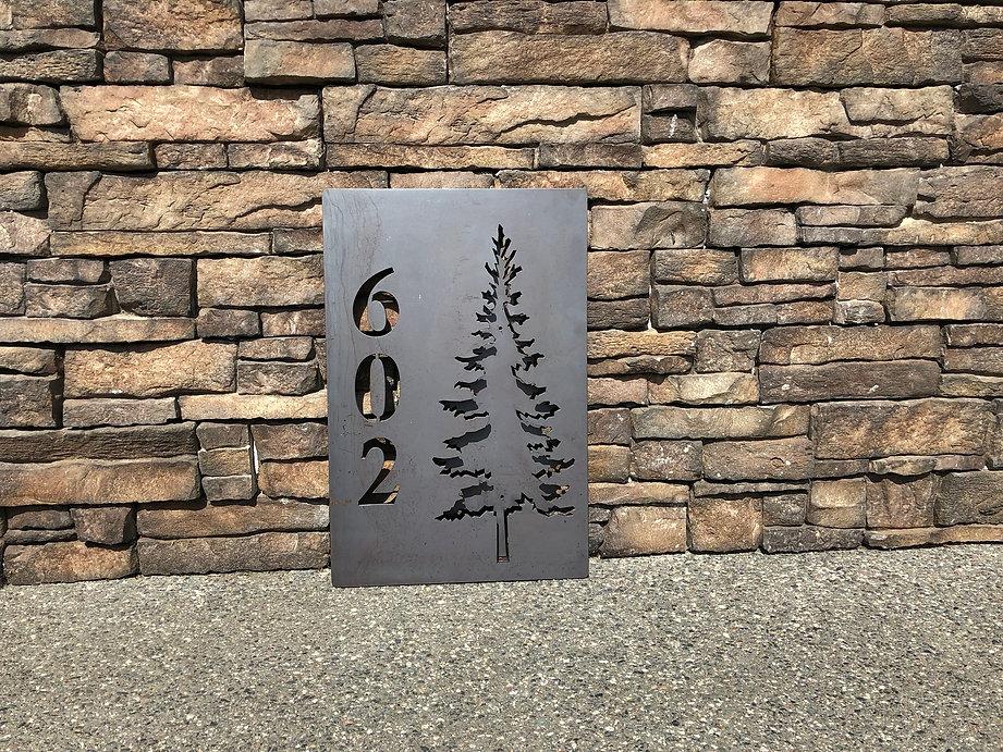 Steel Tree Sign