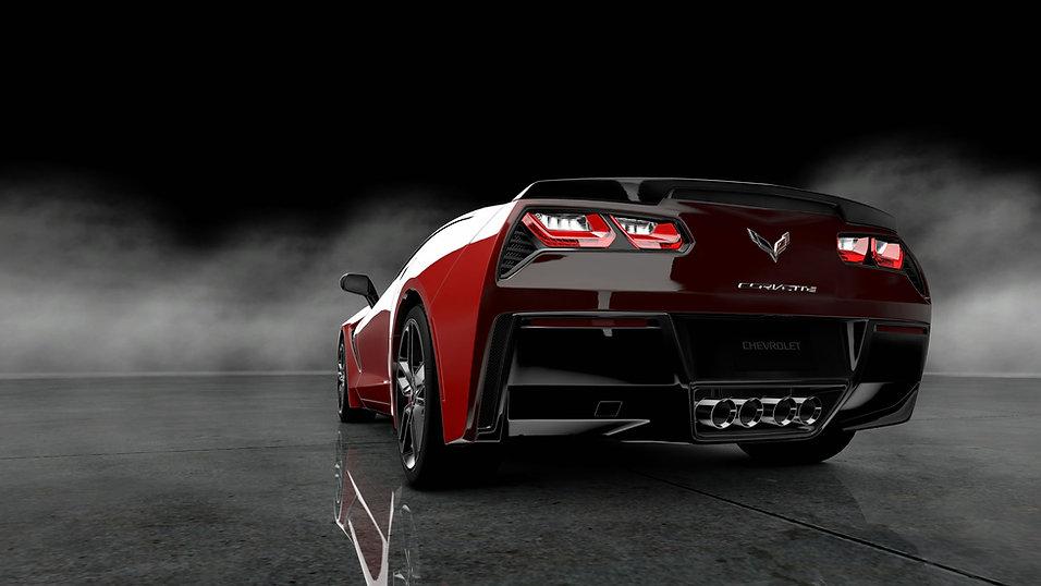 2014-Red-Chevrolet-Corvette-Stingray-rea