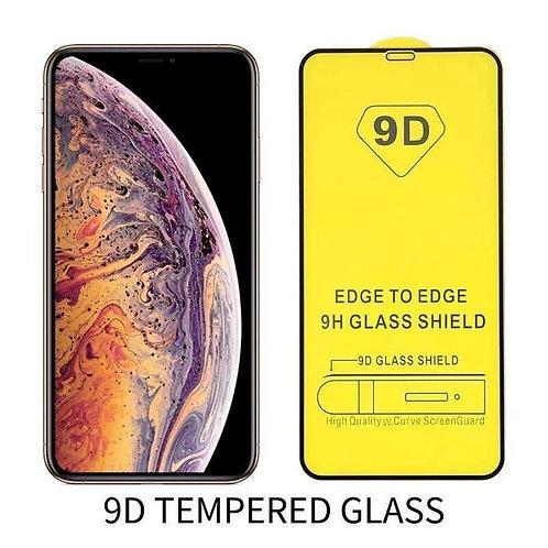 iPhone 11 Pro Max Panzer Glas Display Schutzfolie Rahmen Schwarz