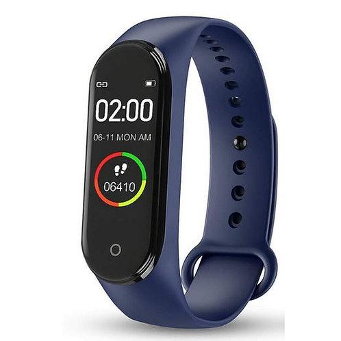 KarenM M4A Fitness Tracker Smartwatch Blau