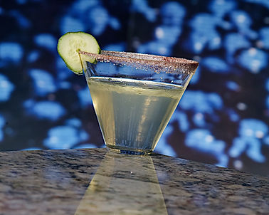 KSN Images Food Photography cocktail photo blue background marble tabletop