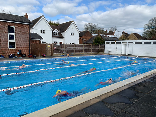 Outdoor Pool Swim 1 hour  Session - Coached