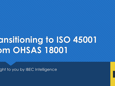 Have You Transitioned to ISO 45001 Yet?