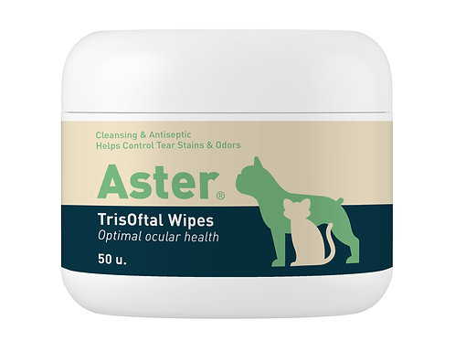 Aster Tear and Saliva Wipes (50 wipes)