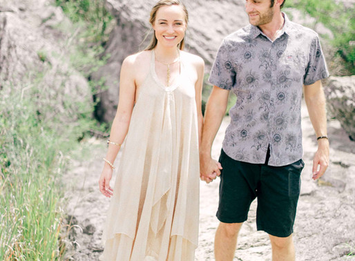 Austin Wedding Photographer- Pedernales Falls Fine Art Engagement Session