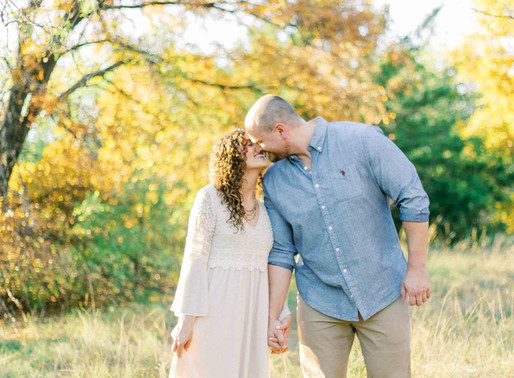 DFW Wedding Photographer- Sunkissed Fall Day Arbor Hills Fine Art Engagement Session